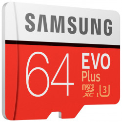 Samsung microSDXC 64Gb Class10 EVO+ с адаптером MB-MC64HA/RU