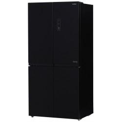 Многокамерный холодильник Hyundai CM5005F черное стекло
