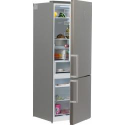 Двухкамерный холодильник Hyundai CC4553F нержавеющая сталь