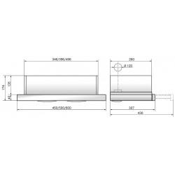 Вытяжка Elikor Интегра GLASS 60 нерж. /стекло черное R