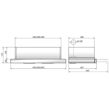Elikor Интегра GLASS 60 нерж. /стекло черное R