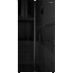 Холодильник Side by Side Hyundai CS5005FV черное стекло